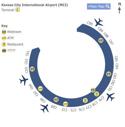 kci airport terminal map Kansas City Airport Mci Terminal C Map Map Of Terminal C At kci airport terminal map